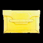 Handmade crocodile clutch, color Yellow