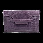 Handmade crocodile clutch, color Purple